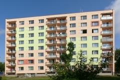 Zateplení fasády bytového domu, Škroupova, Chrudim